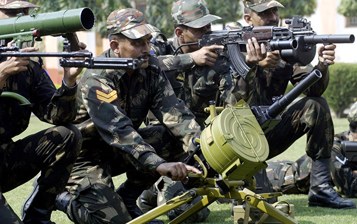 indian army infantry weapons