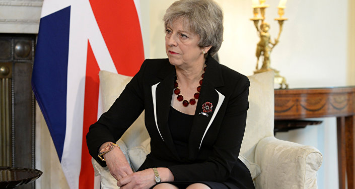 Britain's Prime Minister Theresa May in 10 Downing Street, London November 2, 2017