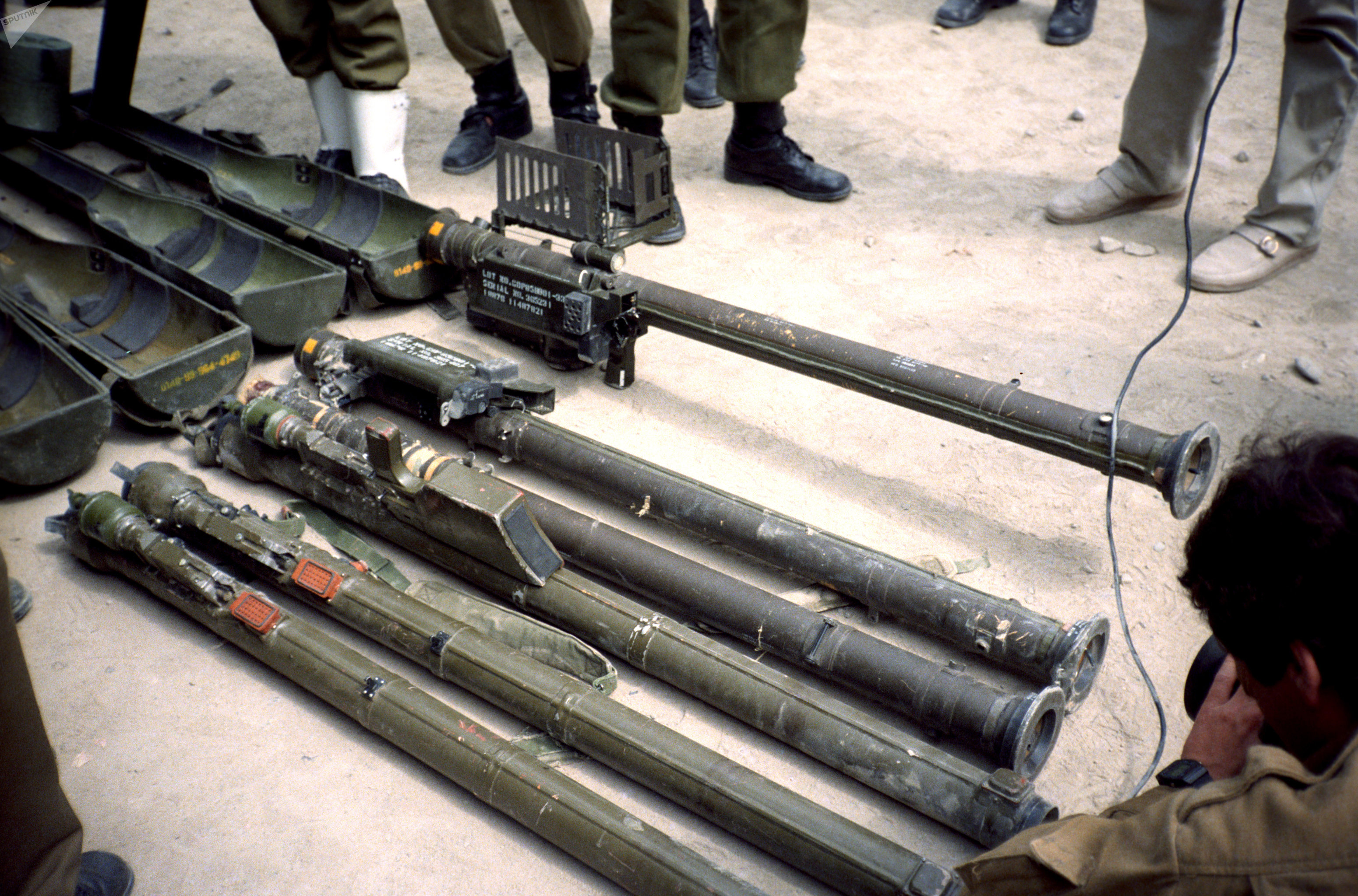 Surface-to-air Stinger missiles and launchers. File photo