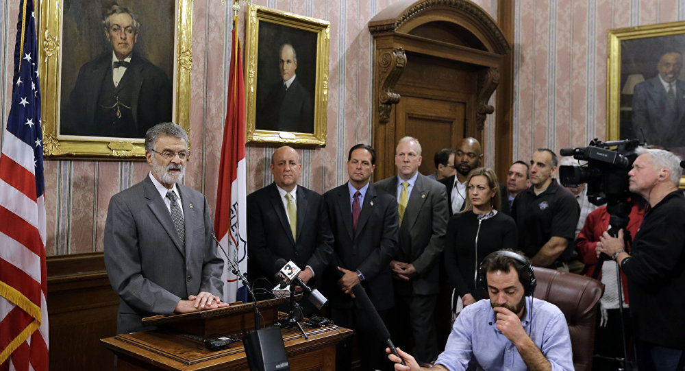 Cleveland Mayor Frank Jackson speaks during a news conference Tuesday, April 18, 2017, in Cleveland. Jackson said the death of Steve Stephens, a man who randomly killed an Ohio retiree and posted Facebook video of the crime, brings some closure in the slaying of an innocent man