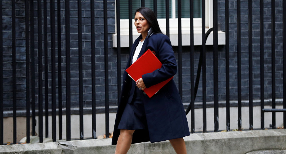 Priti Patel, Britain's Secretary of State for International Development arrives in Downing Street, in London, October 31, 2017