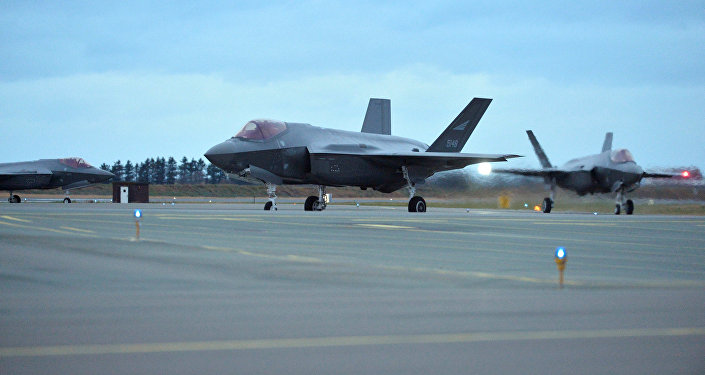 The first three F-35 fighter jets ordered by Norway's Air Force arrive in Oerland Main Air Station, near Trondheim, Norway November 3, 2017