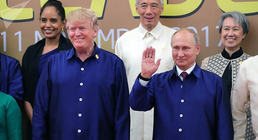 WATCH Putin, Trump Greeting Each Other at APEC Summit in...
