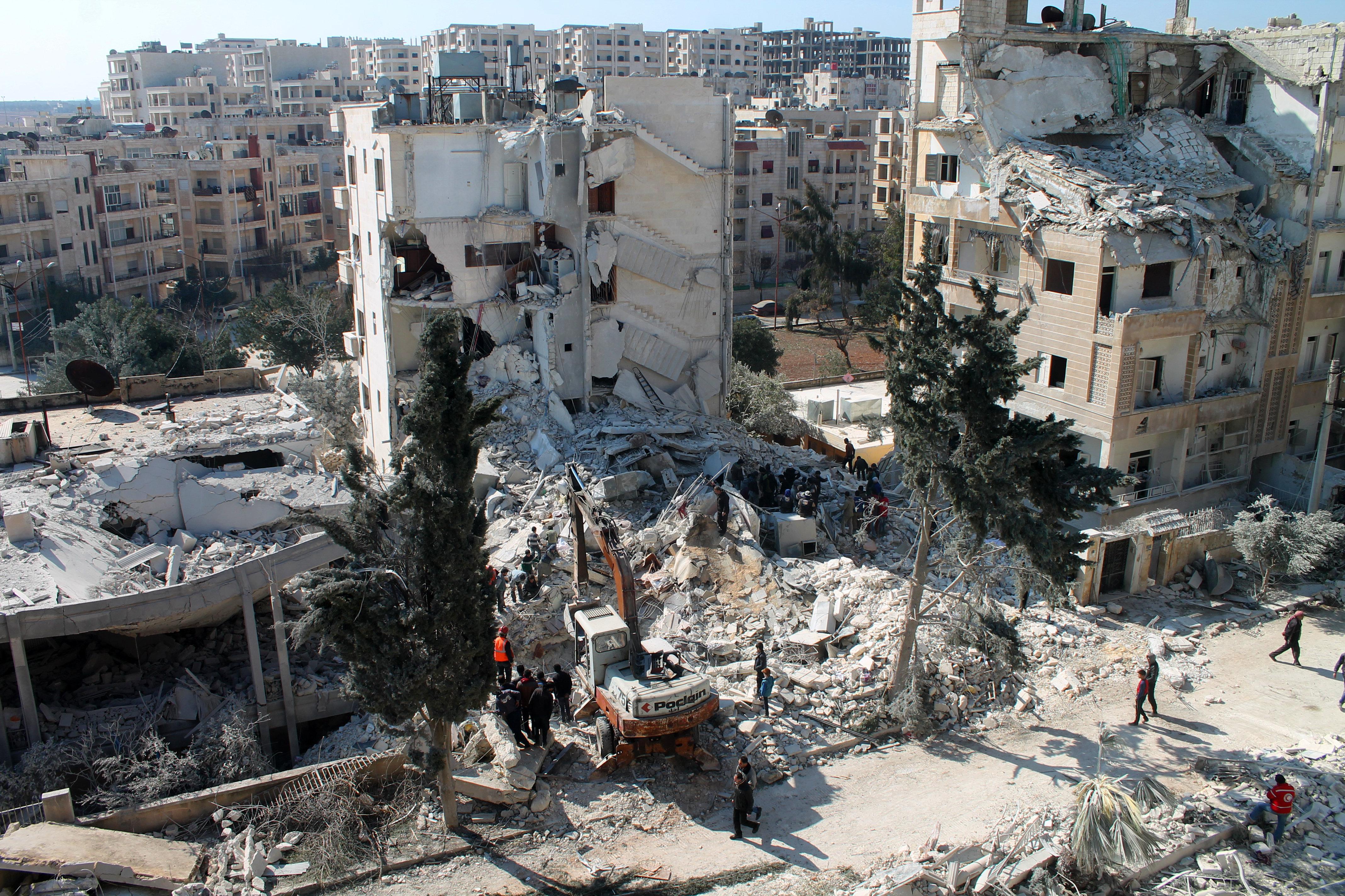 シリア北西部のIdlib市。