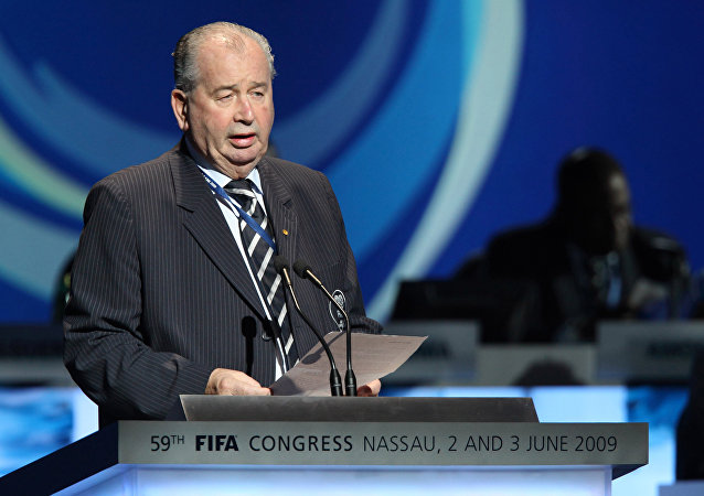 Julio H. Grondona speaks at the 59th FIFA Congress in Nassau, Bahamas, Wednesday, June 3, 2009.