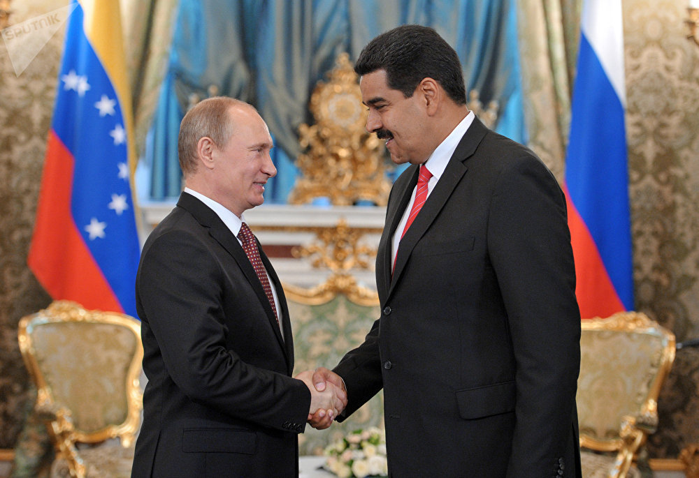 Russian President Vladimir Putin meets in the Kremlin with Nicolas Maduro