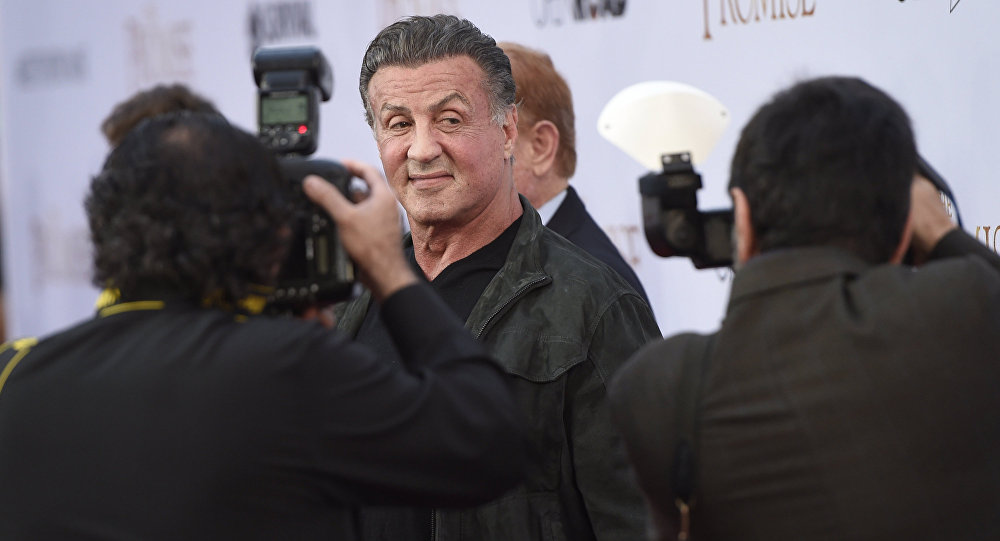 Sylvester Stallone arrives at the U.S. premiere of The Promise at the TCL Chinese Theatre on Wednesday, April 12, 2017, in Los Angeles