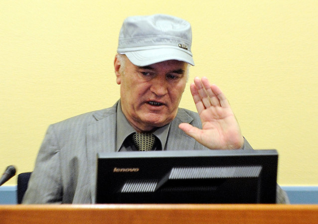 Bosnian Serb wartime general Ratko Mladic appears in court at the International Criminal Tribunal for the former Yugoslavia (ICTY) in the Hague, Netherlands, June 3, 2011