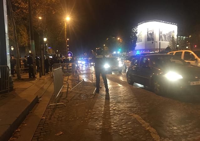 A rally in Paris held on November 18, 2017
