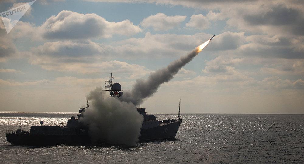 Manuevers of Russian Navy's Caspian Flotilla. File photo