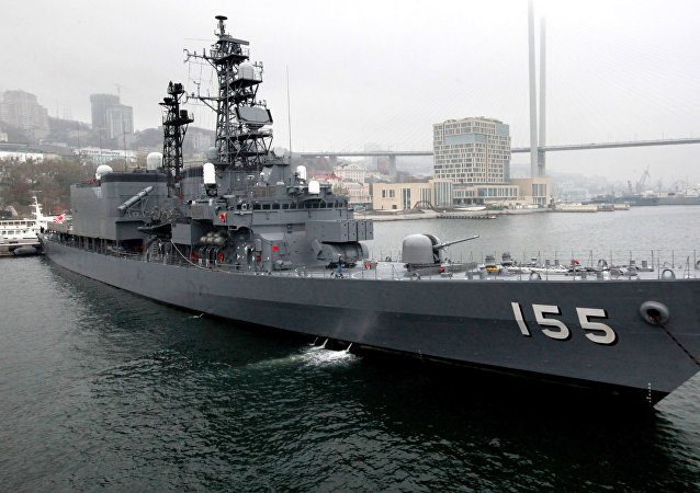 Japanese Maritime Self-Defense Force destroyer Hamagiri visits Vladivostok. File photo