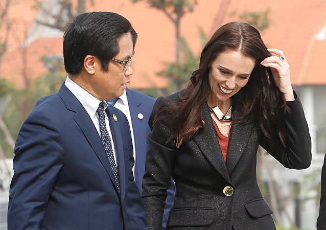 New Zealand Prime Minister Jacinda Ardern arrives at Danang Convention Center for the APEC CEO Summit ahead of the Asia-Pacific Economic Cooperation (APEC) leaders summit in Danang, Vietnam, 10 November 2017