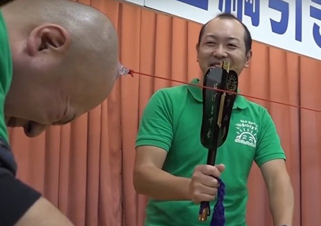 Japanese Bald Men Compete in National Bald Championship
