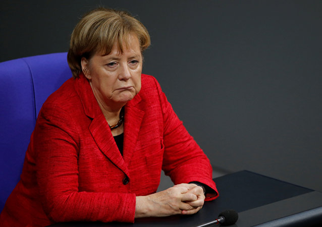 German Chancellor Angela Merkel attends a session of the Bundestag in Berlin, Germany, November 21, 2017