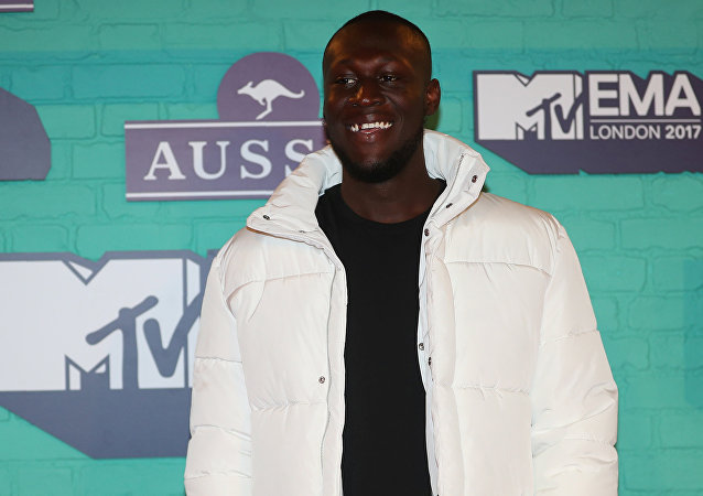 British Hip Hop artist Stormzy arrives at the 2017 MTV Europe Music Awards at Wembley Arena in London, Britain, November 12, 2017.