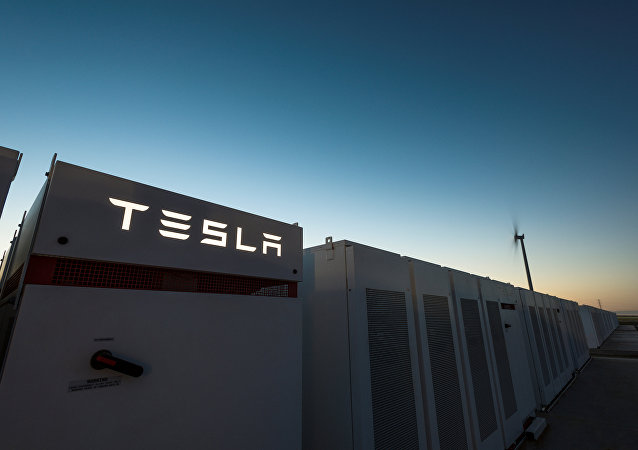 Tesla Powerpacks are seen in Hornsdale, Australia September 29, 2017. Picture taken September 29, 2017