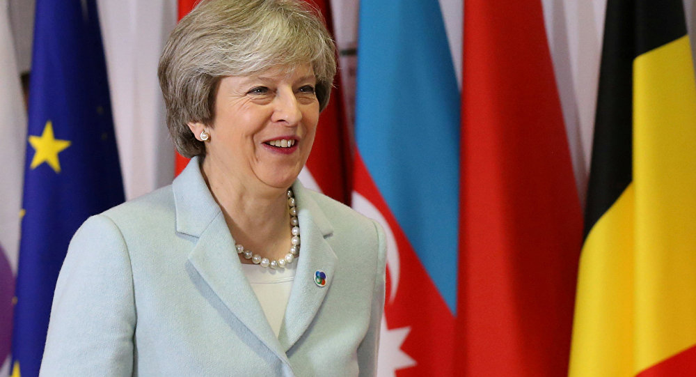 Britain's Prime Minister Theresa May attends the Eastern Partnership summit at the European Council Headquarters in Brussels, Belgium, November 24, 2017.