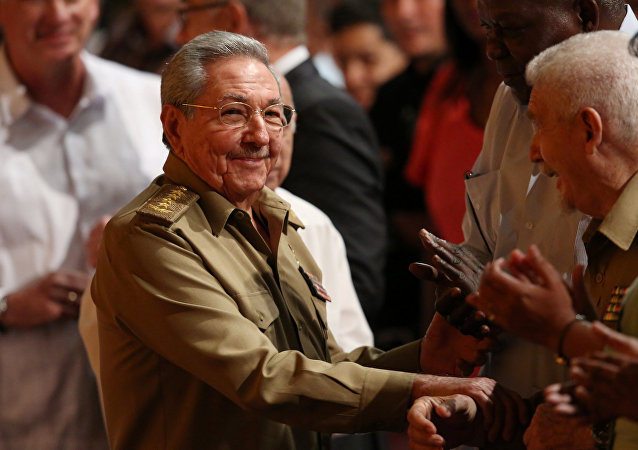 Cuba's President Raul Castro attends a ceremony marking Russia's Red October revolution's centenary in Havana, Cuba, November 7, 2017