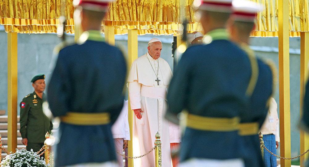 Pope Francis in Naypyitaw, Myanmar