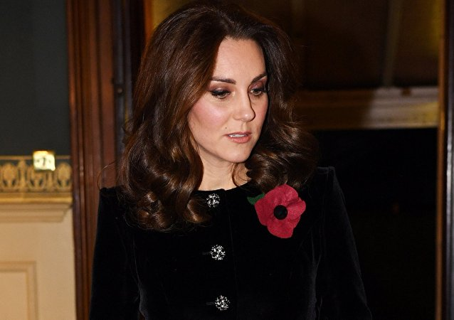 The Duchess of Cambridge arrives at the annual Royal Festival of Remembrance at the Royal Albert Hall, in London, Britain November 11, 2017.
