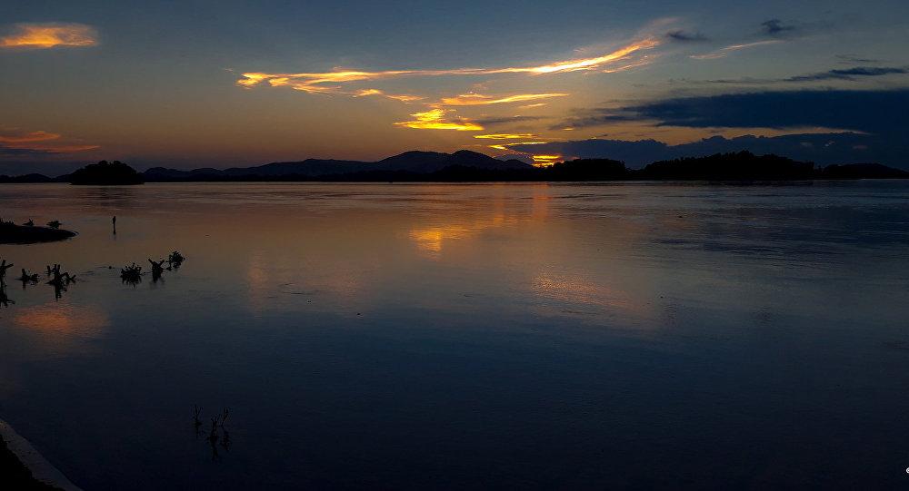 Siang River view