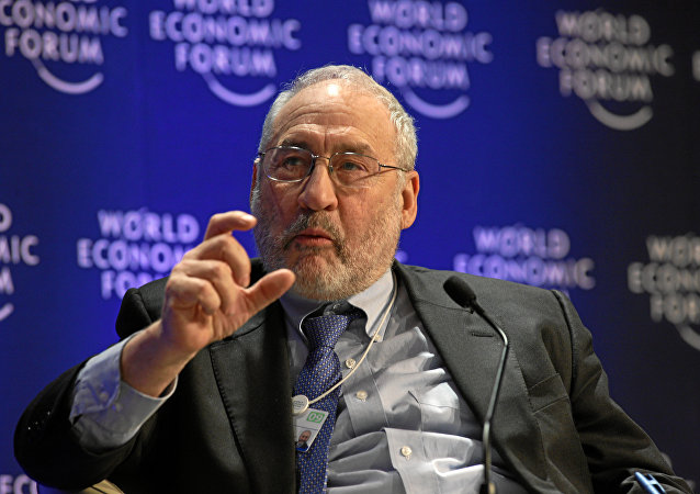 Joseph Stiglitz at World Economic Forum Annual Meeting in Davos. (File)