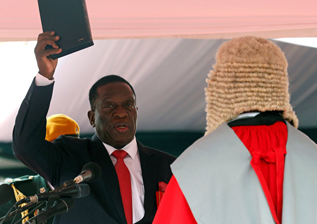 Emmerson Mnangagwa is sworn in as Zimbabwe's president in Harare, Zimbabwe, November 24, 2017