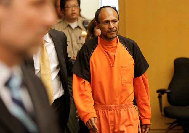 Jose Ines Garcia Zarate, arrested in connection with the July 1, 2015, shooting of Kate Steinle on a pier in San Francisco is led into the Hall of Justice for his arraignment in San Francisco, California, US on July 7, 2015.