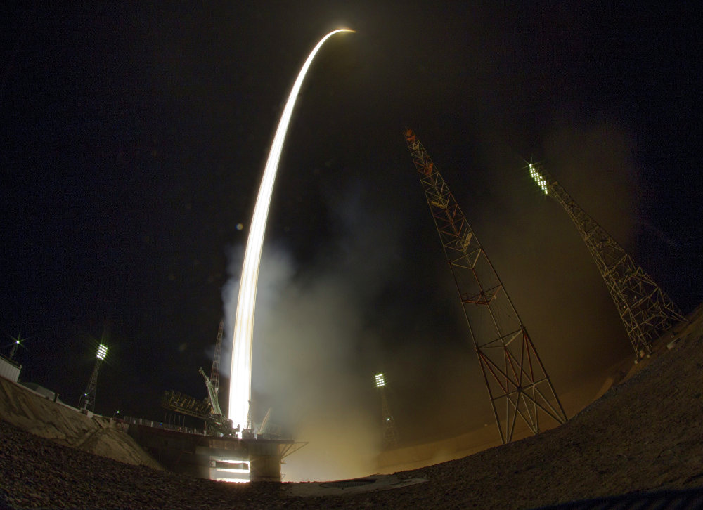 Soyuz Spacecraft Lifts Off With Historic ISS Expedition Aboard