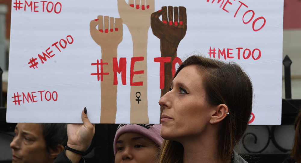 Victims of sexual harassment, sexual assault, sexual abuse and their supporters protest during a #MeToo march in Hollywood, California on November 12, 2017 (photo used for illustration purpose only)