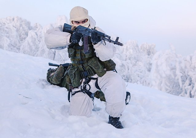 Training grounds for Naval Infantry in Murmansk region