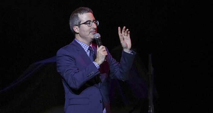 Comedian John Oliver performs on stage during the 11th Annual Stand Up for Heroes benefit, presented by the New York Comedy Festival and The Bob Woodruff Foundation, at the Theater at Madison Square Garden on Tuesday, Nov. 7, 2017, in New York