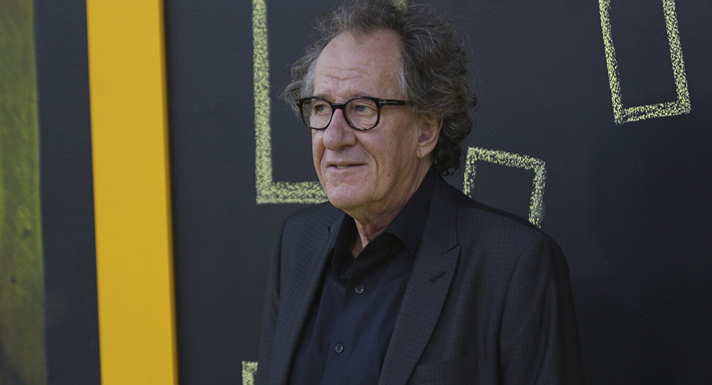 Geoffrey Rush arrives at the LA Premiere of Genius at the Fox Theatre at Westwood Village on Monday, April 24, 2017, in Los Angeles