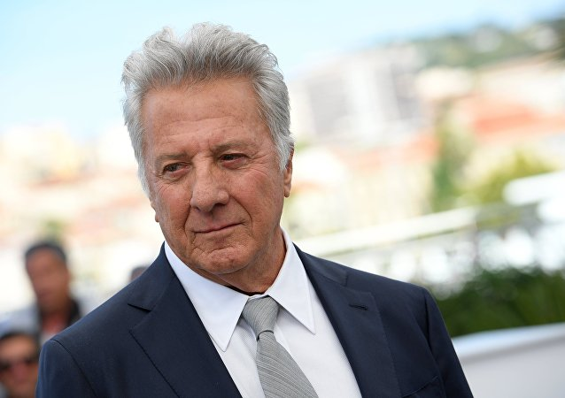 Actor Dustin Hoffman during a photocall for The Meyerowitz Stories film at the 70th International Cannes Film Festival.