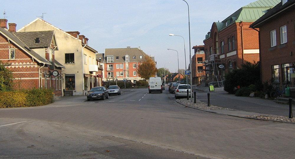 Östergatan in central Vellinge, Sweden