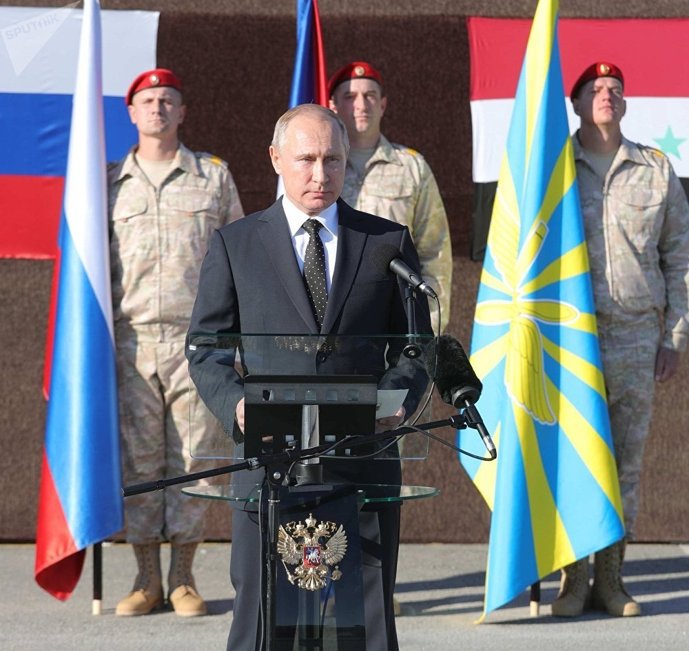 President Vladimir Putin visits Hmeymim Air Base in Syria