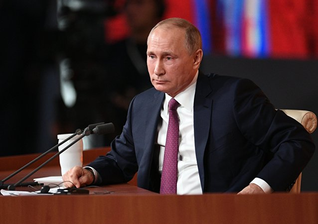 Vladimir Putin's annual news conference. File photo