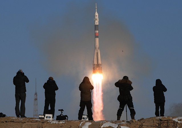 Start-up of the Soyuz-FG carrier rocket with the Soyuz MS-07