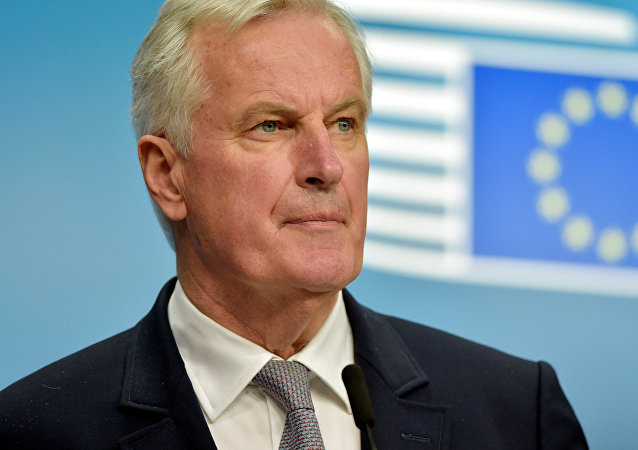 European Union Chief Negotiator for Brexit Michel Barnier looks on during a news conference after a European General Affairs Ministers meeting in Brussels, Belgium May 22, 2017.