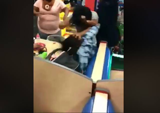 Two unidentified women caught fighting at an Indianapolis Chuck E. Cheese