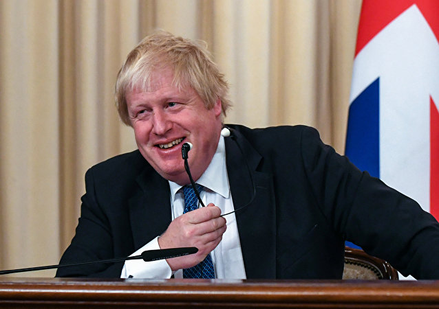 British Foreign Secretary Boris Johnson attends a joint press conference with his Russian counterpart following their meeting in Moscow on December 22, 2017