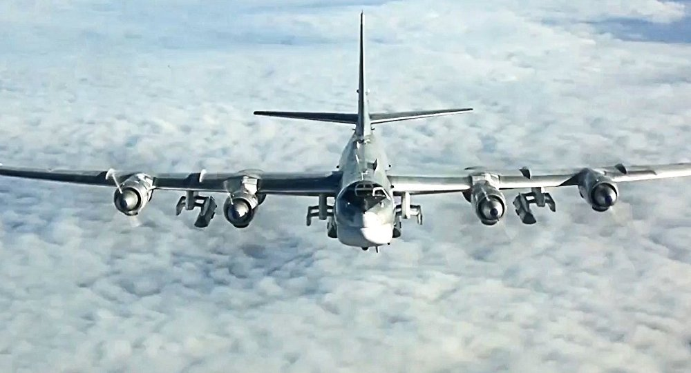 Tu-95MS strikes terrorist facilities in Syria with KhA-101 cruise missiles