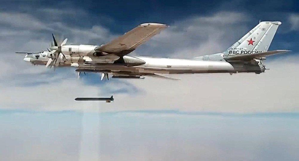 Tu-95MS strikes terrorist facilities in Syria with KhA-101 cruise missiles