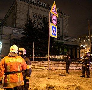 Explosion at Perekryostok store in St. Petersburg