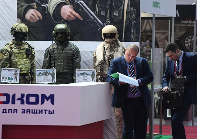 Body armor for service personnel on display at the Army 2017 International Military-Technical Forum in the Moscow Region. File photo