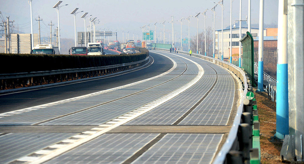 New 1 km solar expressway opens in Jinan, China