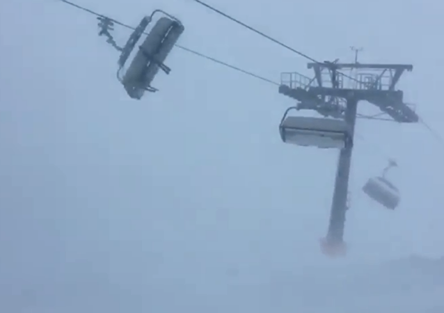 Trapped skiers get tossed in strong winds brought on by Storm Eleanor