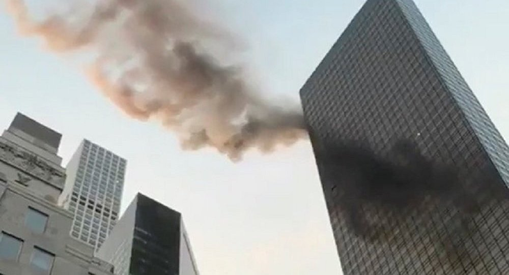 Firefighters respond to blaze at Trump Tower