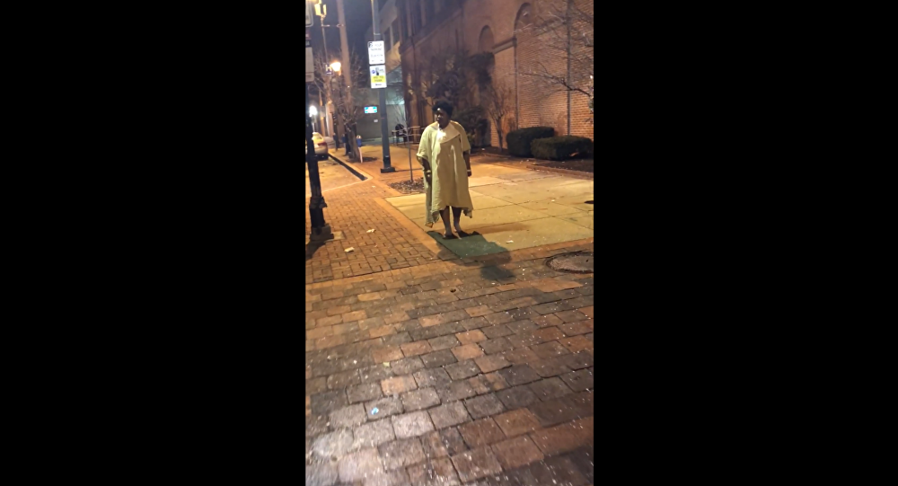 Baltimore Hospital staff dump patient wearing only a hospital gown and socks at a bus stop
