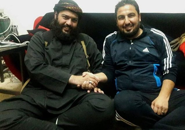 Wanted terrorist Abdullah al-Muhaysini and 'brave journalist' Abu Omar